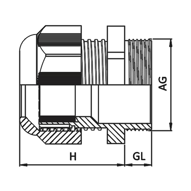 Nsv Industriekomponenten Kabelverschraubungen Mass Zeichnung