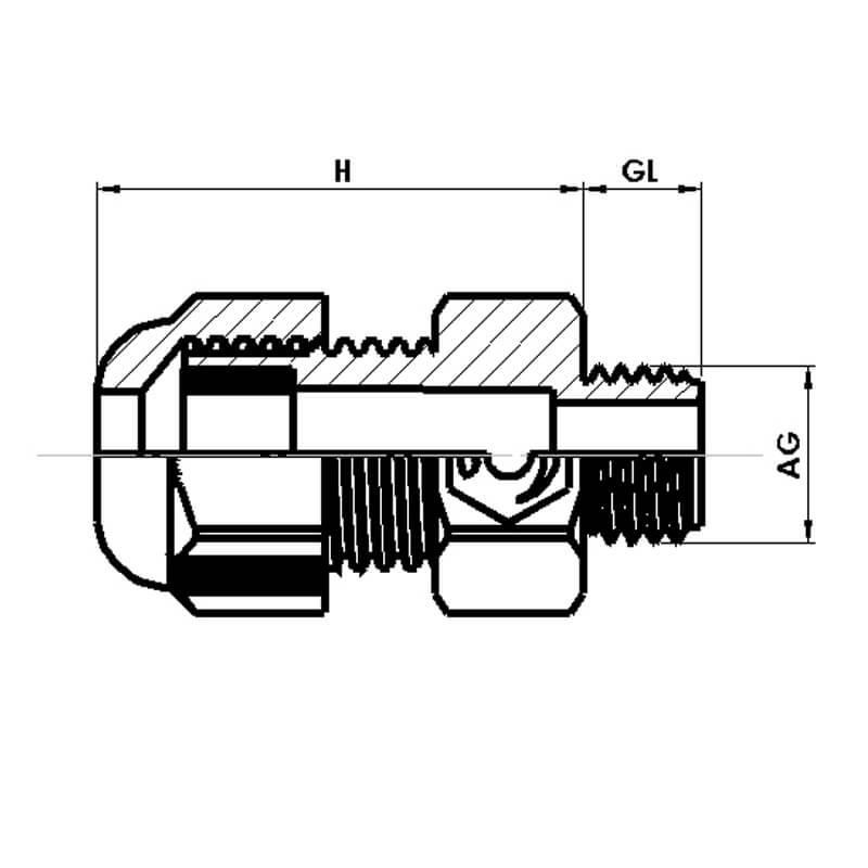 Nsv Industriekomponenten Kabelverschraubungen Druckausgleichsverschraubungen Masszeichnung 1
