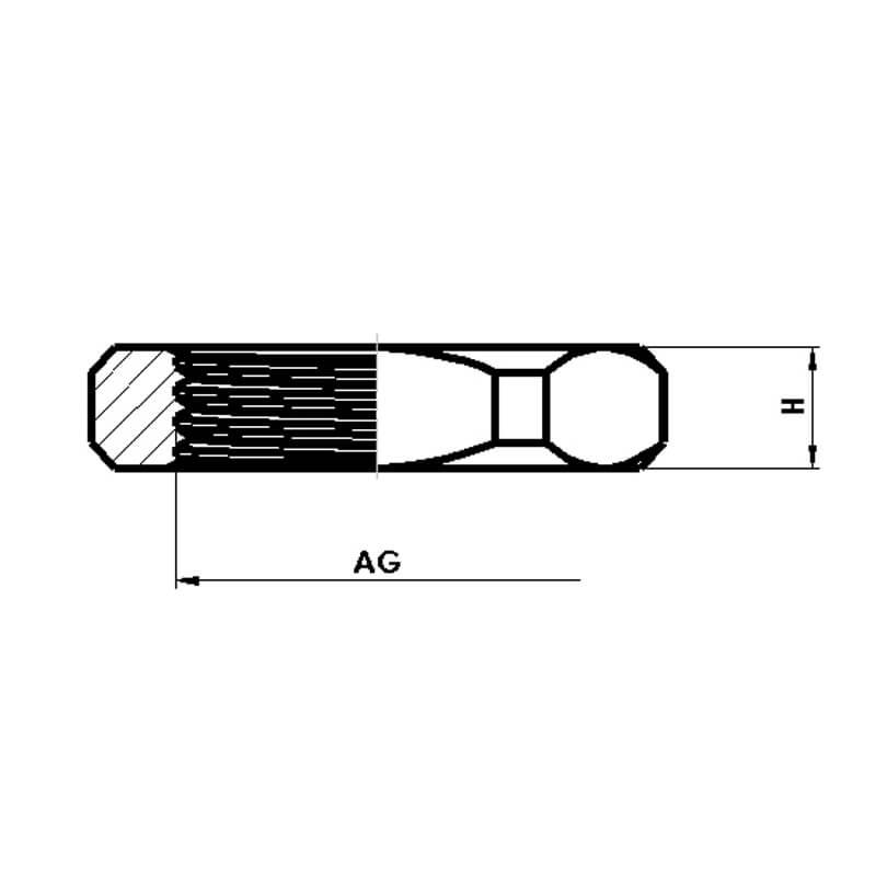 Nsv Industriekomponenten Kabelverschraubungen Kunststoff Gegenmuttern Ohne Kragen Masszeichnung