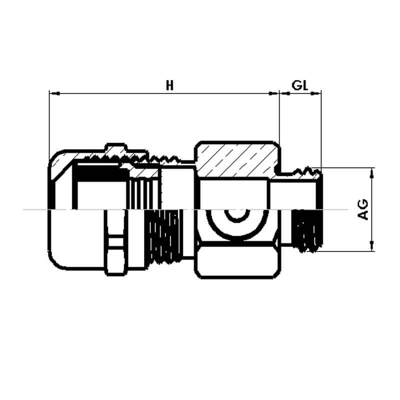 Nsv Industriekomponenten Kabelverschraubungen Metall Druckausgleichsverschraubungen Masszeichnung 1
